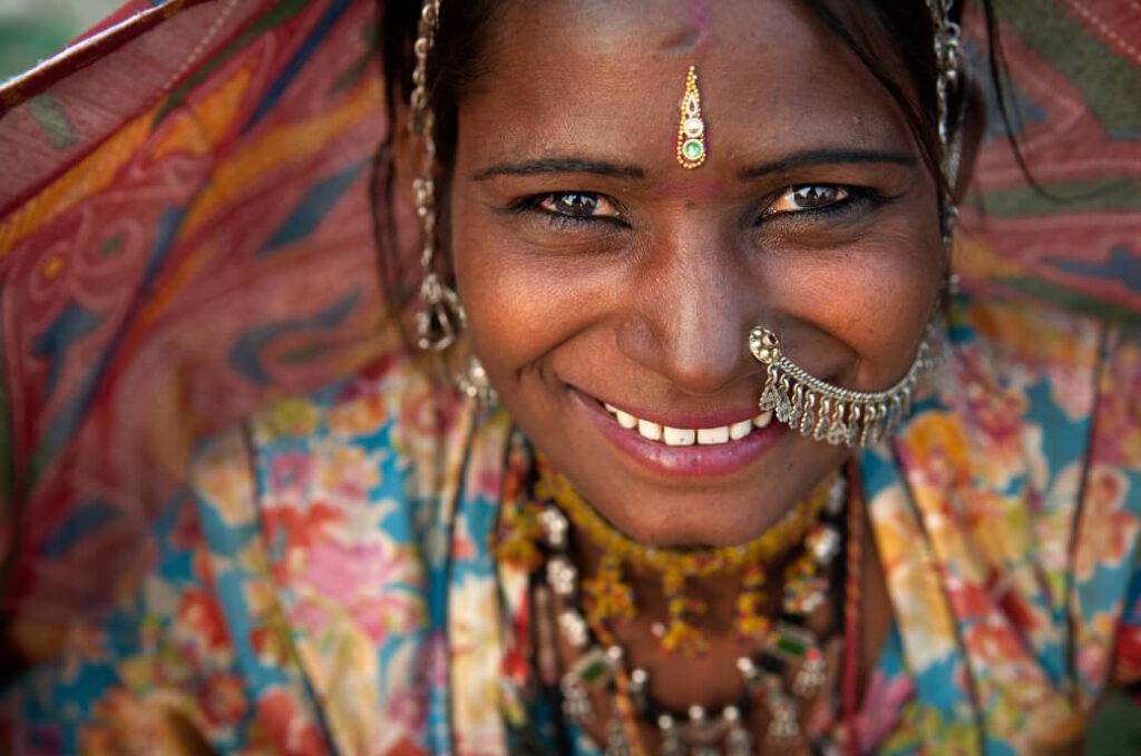 Indie-kobieta-Radzastan