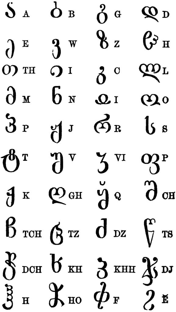 Gruzinski-alfabet