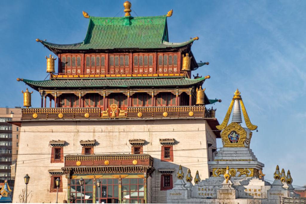 klasztor gandan ułan bator mongolia