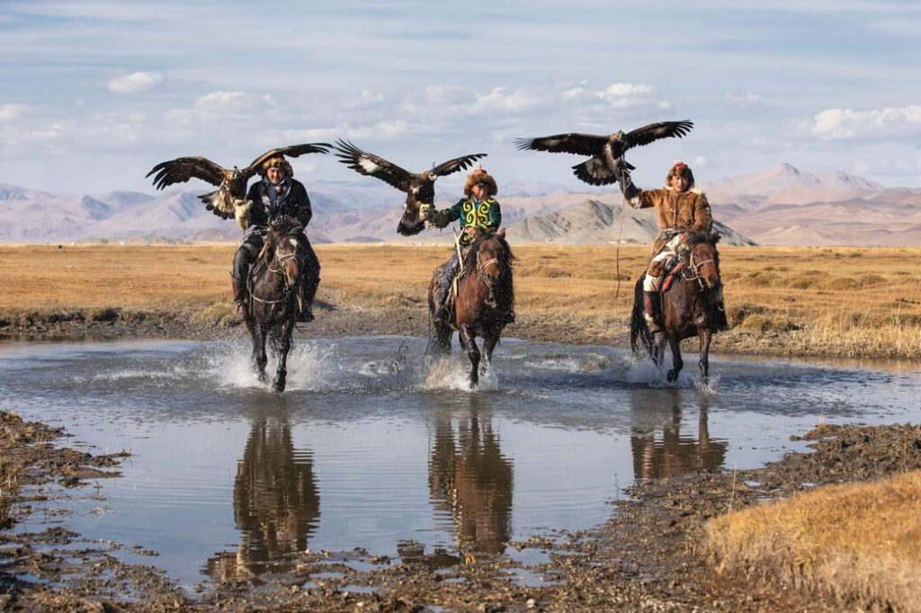 polowanie orły mongolia