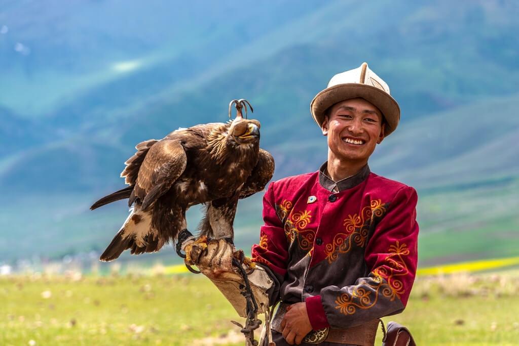 polowanie z orłem kirgistan