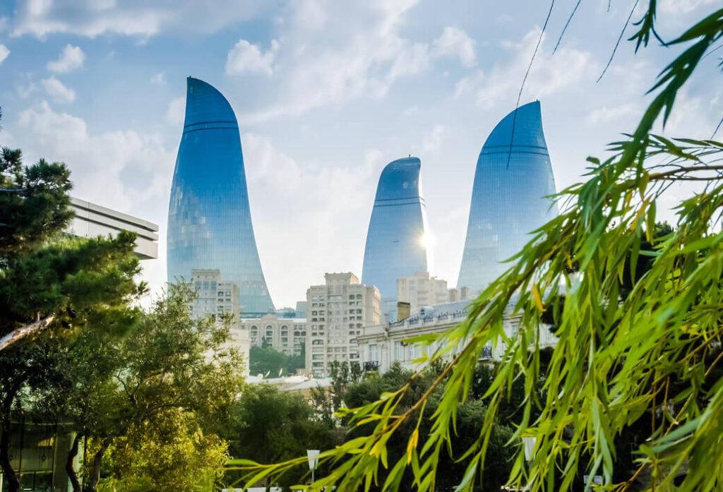 wieże ognia azerbejdżan